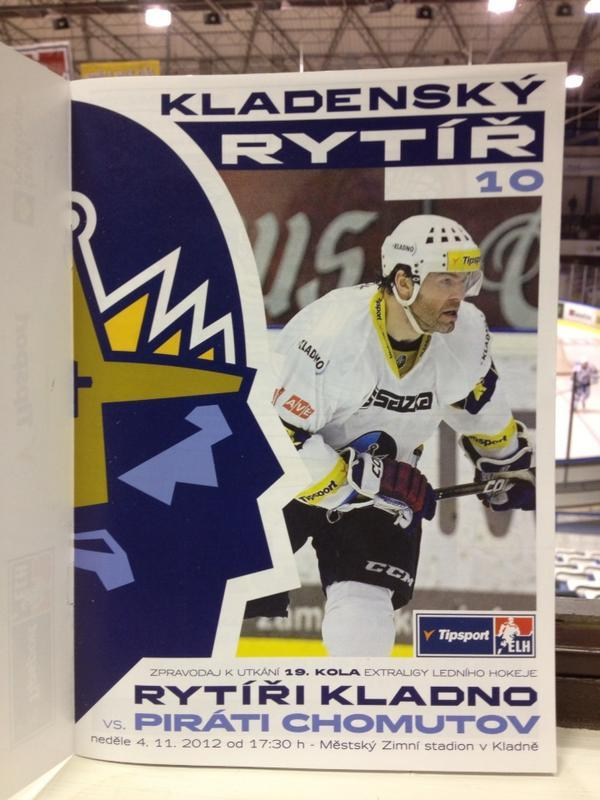 HC Kladno Knights program with Jaromir Jagr on the cover. (#NickInEurope)