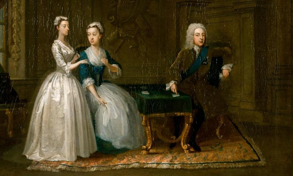 Gawen Hamilton's painting, Portrait of John, 2nd Duke of Montagu, his Wife and their Younger Daughter