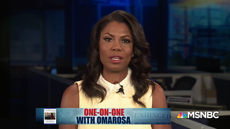Former White House aide Omarosa Manigault-Newman on Sunday called President Donald Trump a racist who uses people as props. (MSNBC)