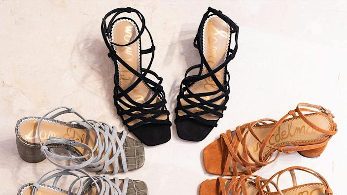 Show off your pedicure in these gorgeous, strappy heels.