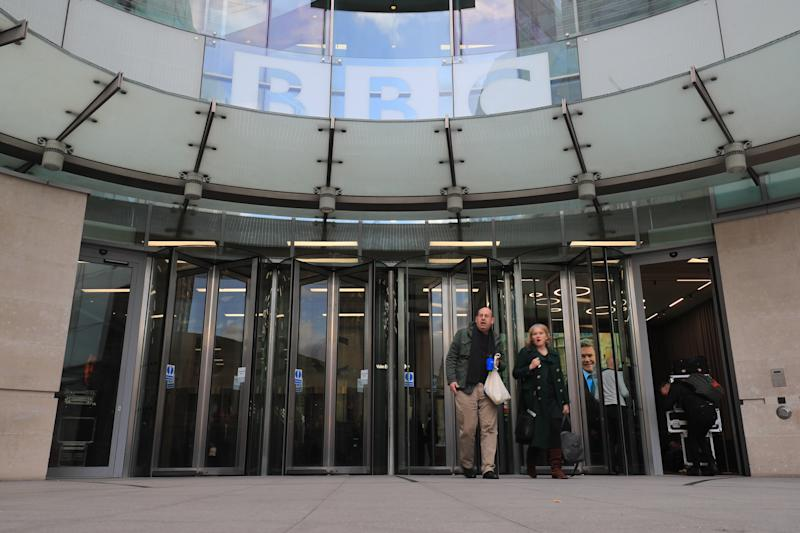 New BBC Broadcasting House in London after BBC has announced cuts to Newsnight, 5Live and other news output, leading to around 450 job losses.