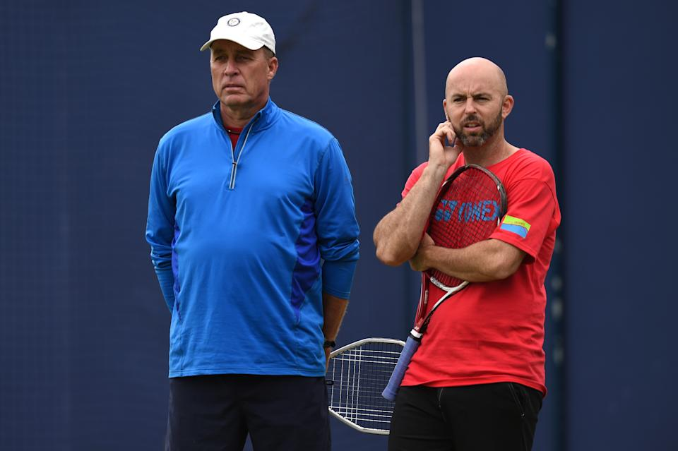 Delgado, right, has been Andy Murray's coach since 2016 and has often seen Raducanu practising at the National Tennis Centre