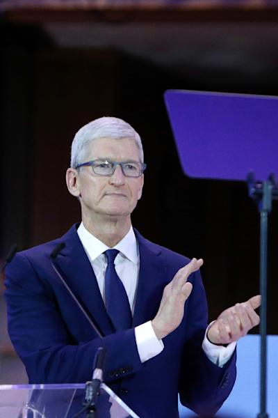 """Apple CEO Tim Cook said recently he would welcome tough US privacy rules and argued that personal data should not be """"weaponized"""" by internet platforms (AFP Photo/Aris Oikonomou)"""