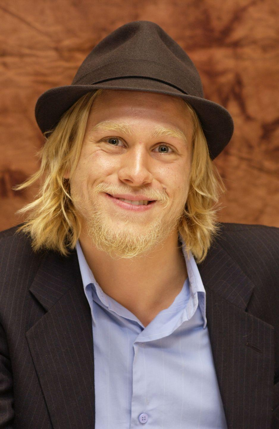 <p>Charlie Hunnam usually keeps his hair chopped short, but the actor let his blonde hair and beard grow out in 2002 for his role in <em>Nicholas Nickleby</em>. </p>