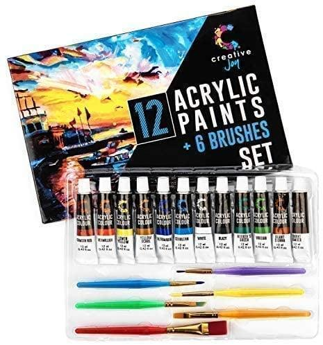<p>If your loved one wants to start getting creative, the <span>Creative Joy Acrylic Paint Set & Brushes</span> ($11) is the perfect gift.</p>