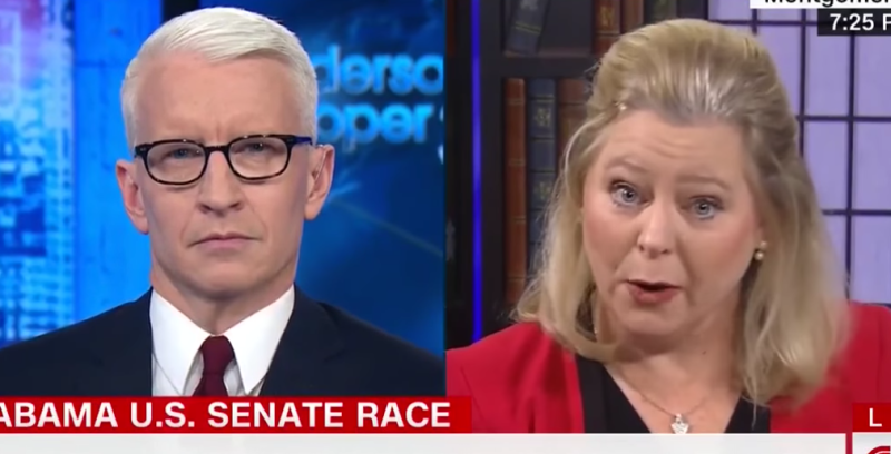 CNN's Anderson Cooper interviewed Roy Moore's spokeswoman Janet Porter on his show Wednesday.