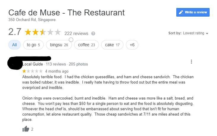 Cafe De Muse user feedback on