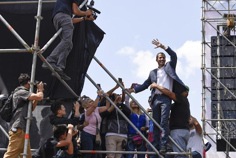 European Union  nations get behind Venezuela's Juan Guaido as acting president