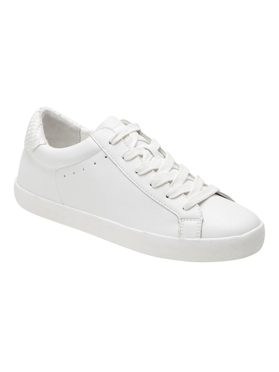 <p>You can't go wrong with these <span>Banana Republic Essential Sneakers</span> ($110, originally $138).</p>