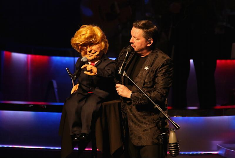 Comic ventriloquist and impressionist Terry Fator was asked to remove his President Donald Trump puppet from his show at The Mirage Hotel & Casino in Las Vegas, Nevada. (Photo: Gabe Ginsberg/Getty Images)