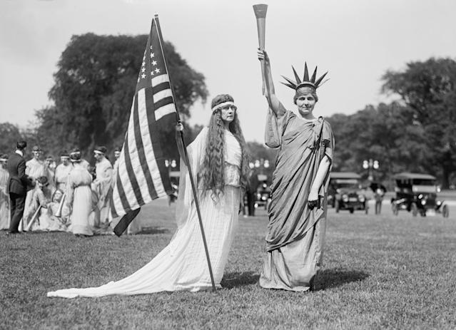 <p>From a Fourth of July party at the Ellipse, Washington D.C.,1919. (Photo: Harris & Ewing/GHI/Universal History Archive via Getty Images) </p>