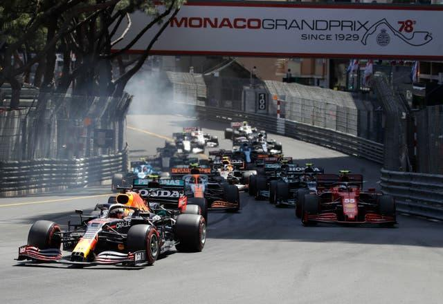 Max Verstappen held on to his lead throughout the race