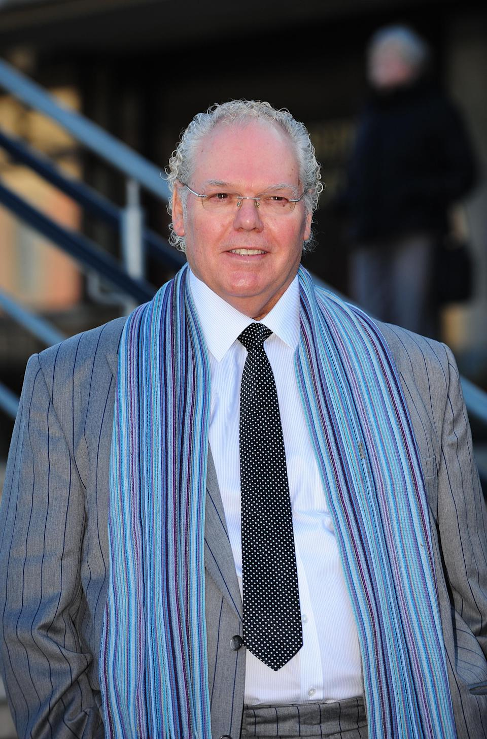 Roy 'Chubby' Brown, real name Royston Vasey, outside Teesside Magistrates' Court where he faces charges of common assault.