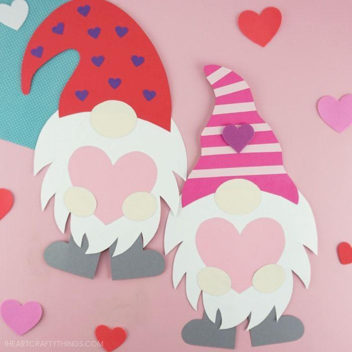"""<p>You deck out your house with these adorable gnomes during Christmas and Easter, but what about Valentine's Day? Make these paper versions, so you can tailor their hat color to their personality.</p><p><em><a href=""""https://iheartcraftythings.com/valentine-gnome-craft.html"""" rel=""""nofollow noopener"""" target=""""_blank"""" data-ylk=""""slk:Get the tutorial at I Heart Crafty Things »"""" class=""""link rapid-noclick-resp"""">Get the tutorial at I Heart Crafty Things »</a></em></p>"""