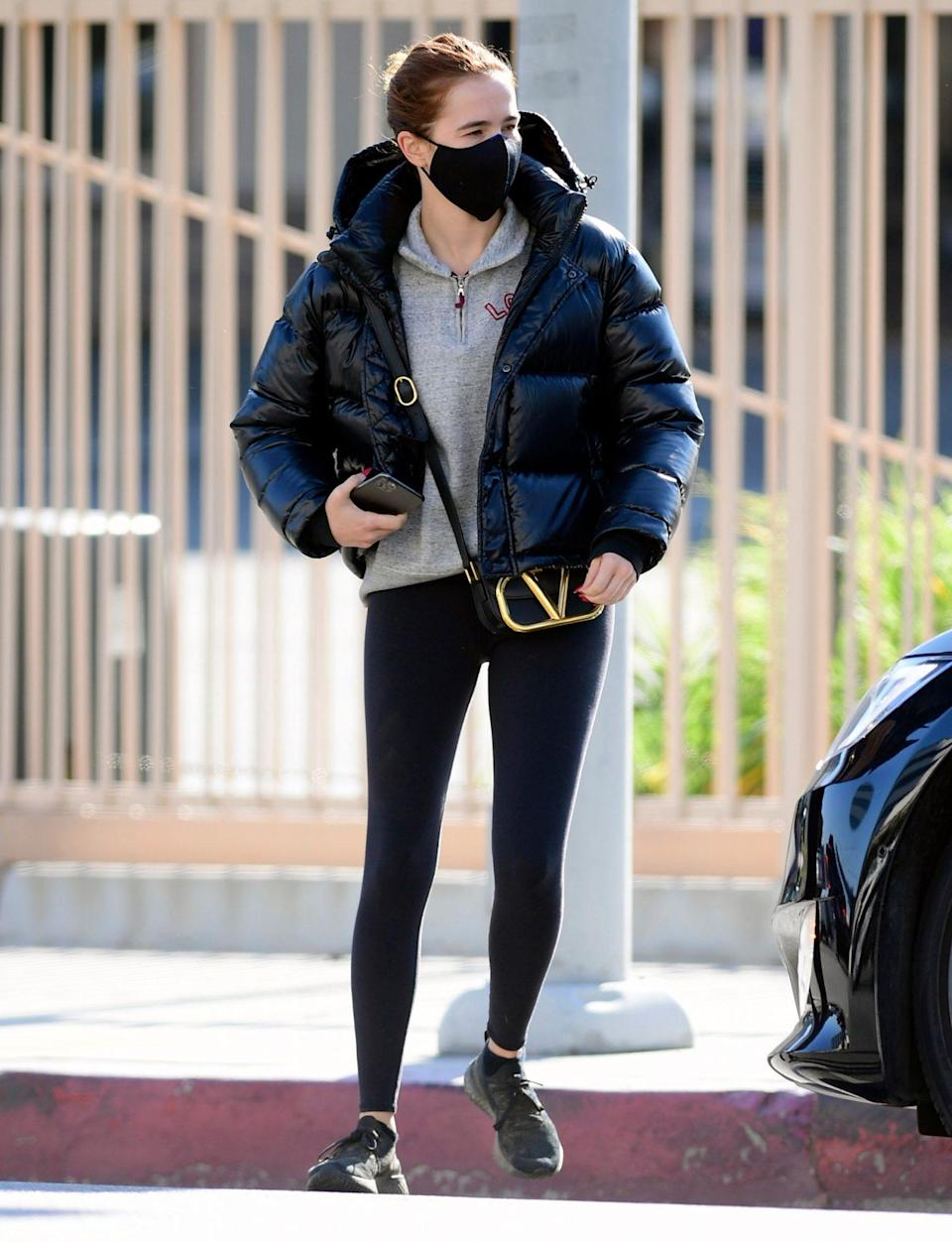 <p>Zoey Deutch layers up to run errands in L.A. on Monday. </p>