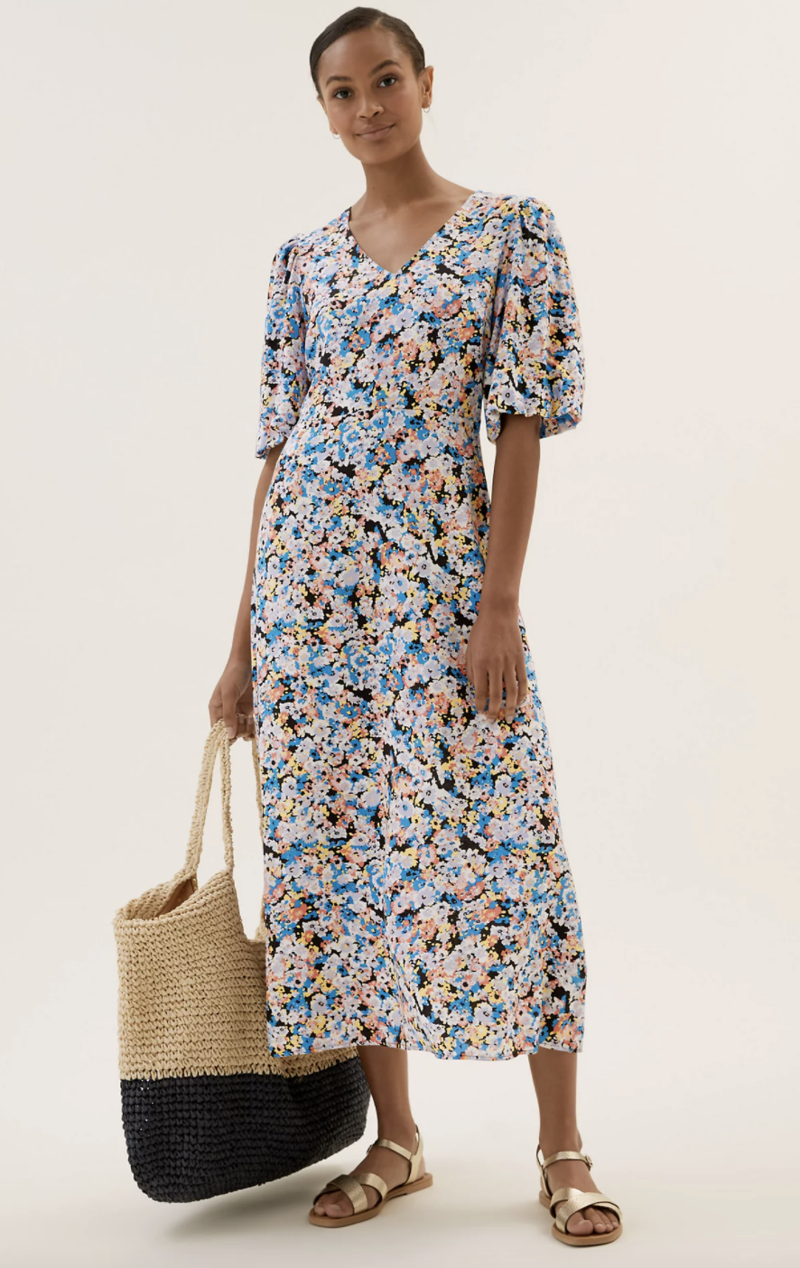 Whether you pair it with trainers, flat sandals or heeled wedges, this is our summer staple. (Marks and Spencer)