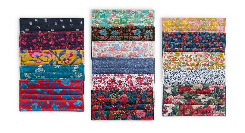Assorted Upcycled Cotton Face Coverings Set of Five