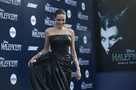 "Cast member Jolie poses at the premiere of ""Maleficent"" at El Capitan theatre in Hollywood"