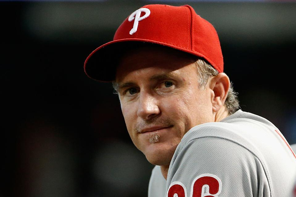 Chase Utley's Hall of Fame case will be hotly debated. (Photo by Christian Petersen/Getty Images)