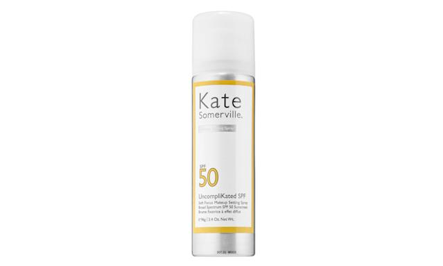 Kate Somerville UncompliKated SPF Soft Focus Makeup Setting Spray. (Photo: Kate Somerville)