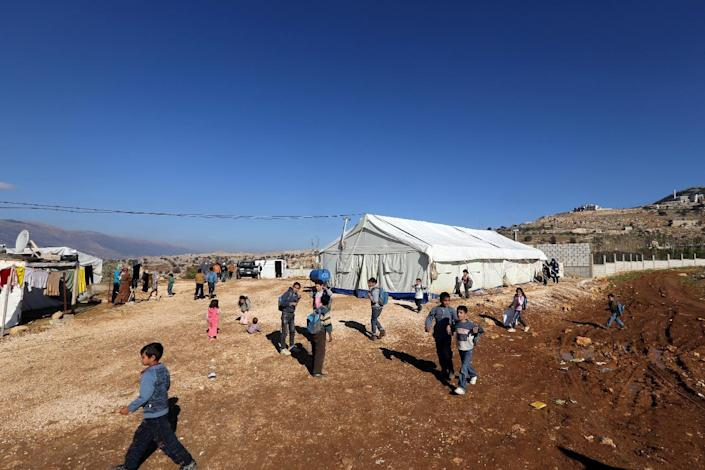 Lebanon has warned the international community that it is struggling to deal with more than 1.1 million Syrian refugees (AFP Photo/Joseph Eid)