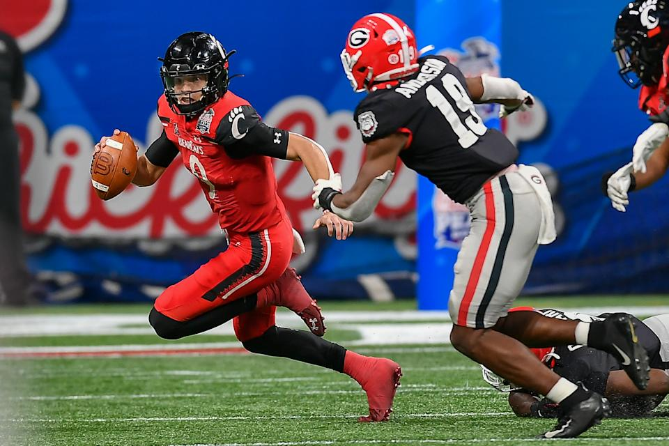 Georgia linebacker Adam Anderson could be one of the surprise 2022 NFL draft prospects to emerge this season. (Photo by Rich von Biberstein/Icon Sportswire via Getty Images)