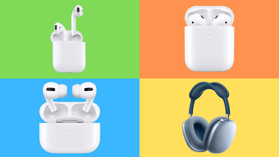 The four faces of Apple AirPods — all of them on sale. (Photo: Apple)
