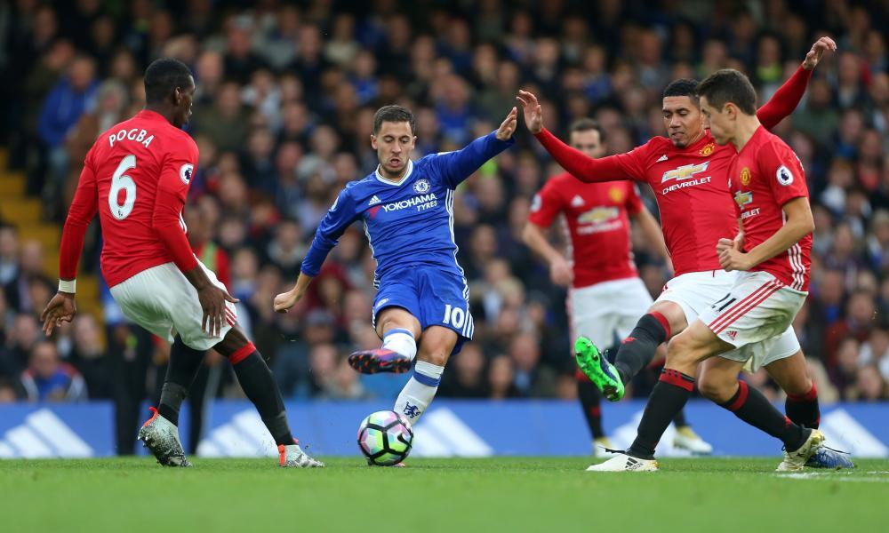 Eden Hazard was in imperious form when Chelsea and Manchester United met in the Premier League in October.