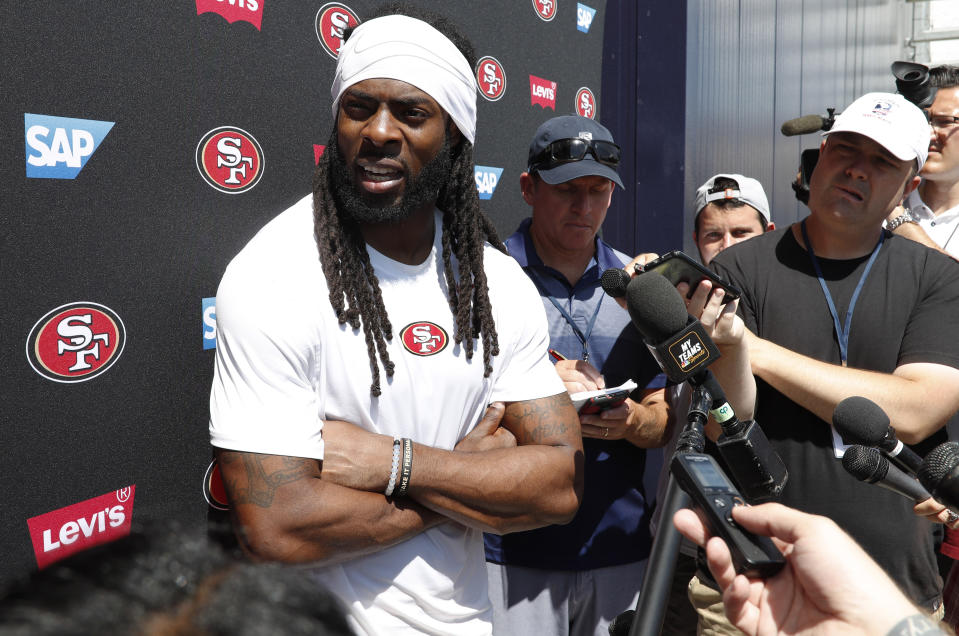 San Francisco 49ers cornerback Richard Sherman.