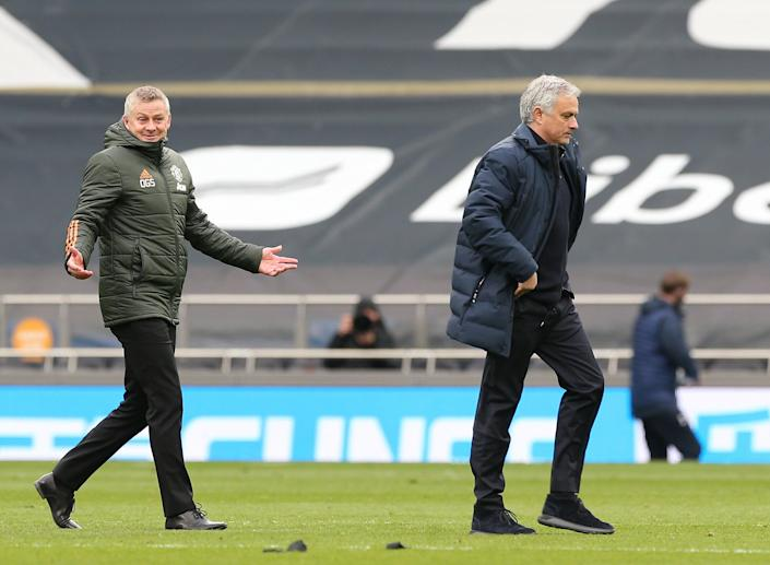 The managers exchanged words after their teams clashed at the weekend (Manchester United via Getty Imag)