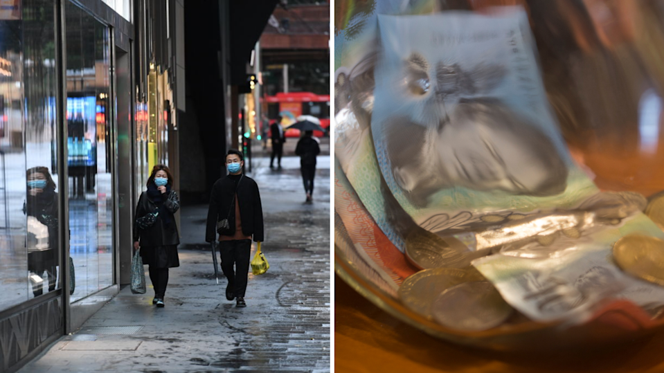 Prime Minister Scott Morrison is expected to announce new payments for NSW. (Images: Getty).