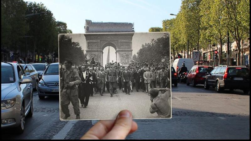 Haunting World War II Photos of Paris, Then and Now