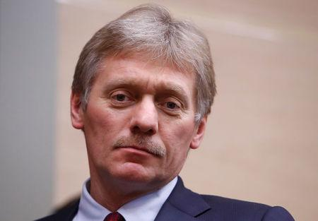 Kremlin spokesman Dmitry Peskov arrives for the meeting with officials of Rostec high-technology state corporation at the Novo-Ogaryovo state residence outside Moscow