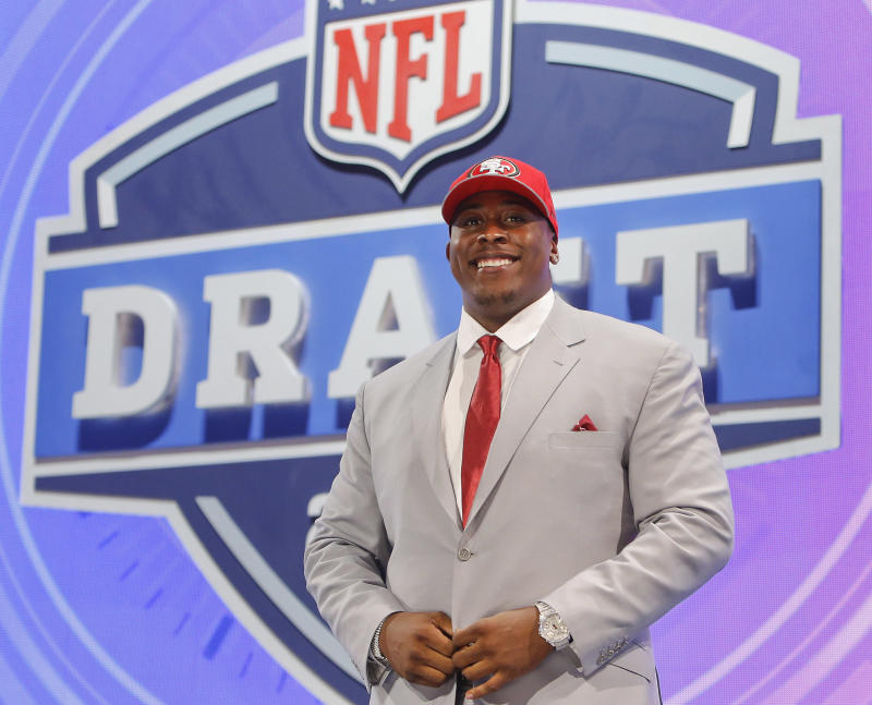 49ers cap busy Day 2 of draft with five trades