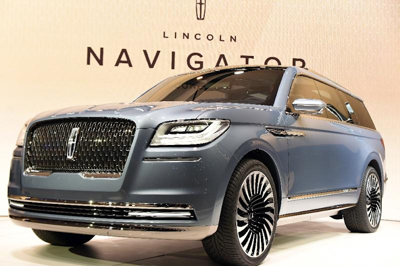 The Lincoln Navigator Concept Car Is Unveiled During New York International Auto Show On March