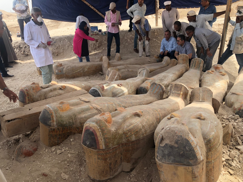 The Egypt Antiquities Ministry said more information will be shared at a press conference on Saturday (Picture: Egypt Antiquities Ministry)