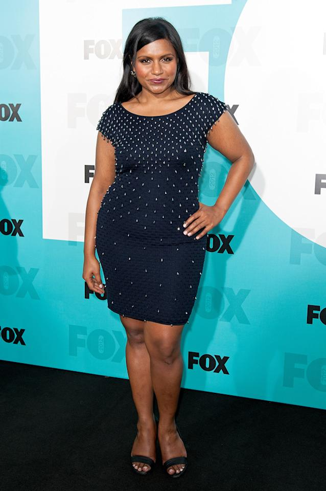 "Mindy Kaling (""The Mindy Project"") attends the Fox 2012 Upfronts Post-Show Party on May 14, 2012 in New York City."