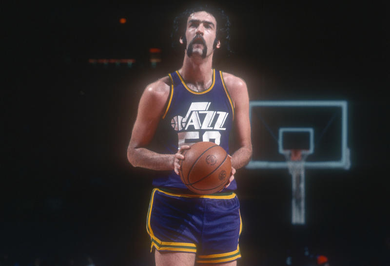 Find a better mustache in NBA history. I dare you. (Getty Images)