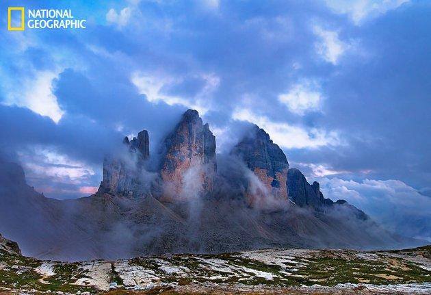 Le Tre cime di Lavaredo in Italia (Andrea Visca/National Geographic Your Shot)