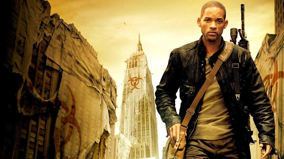 """<p><strong><em>I Am Legend</em></strong></p><p>Will Smith plays the last man alive in a world wiped out by a vicious disease that turns people into vampire-like creatures.</p><p><a class=""""link rapid-noclick-resp"""" href=""""https://www.amazon.com/I-Am-Legend-Will-Smith/dp/B0014CDKVY/?tag=syn-yahoo-20&ascsubtag=%5Bartid%7C10055.g.29120903%5Bsrc%7Cyahoo-us"""" rel=""""nofollow noopener"""" target=""""_blank"""" data-ylk=""""slk:WATCH NOW"""">WATCH NOW</a> </p>"""