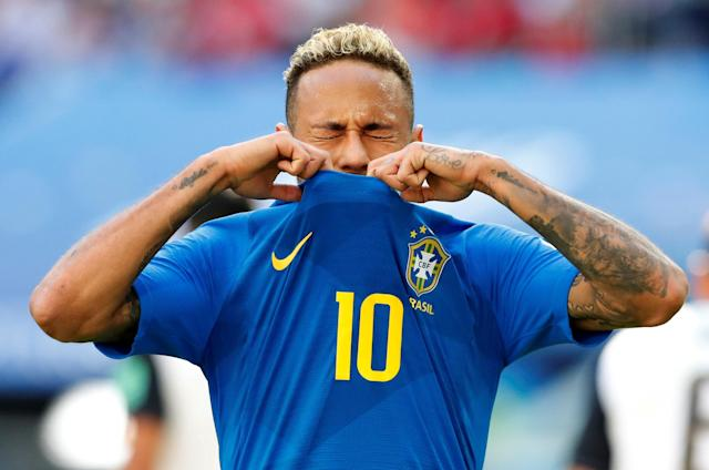 Soccer Football - World Cup - Group E - Brazil vs Costa Rica - Saint Petersburg Stadium, Saint Petersburg, Russia - June 22, 2018 Brazil's Neymar looks dejected after missing a chance to score REUTERS/Carlos Garcia Rawlins TPX IMAGES OF THE DAY