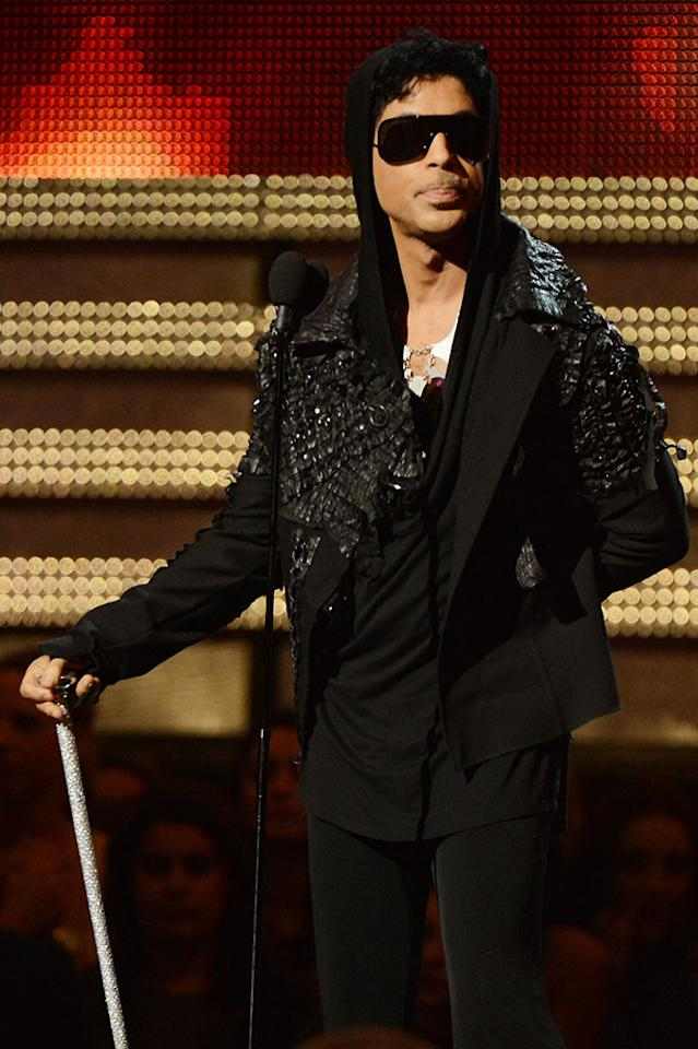 Prince onstage at the 55th Annual Grammy Awards at the Staples Center in Los Angeles, CA on February 10, 2013.