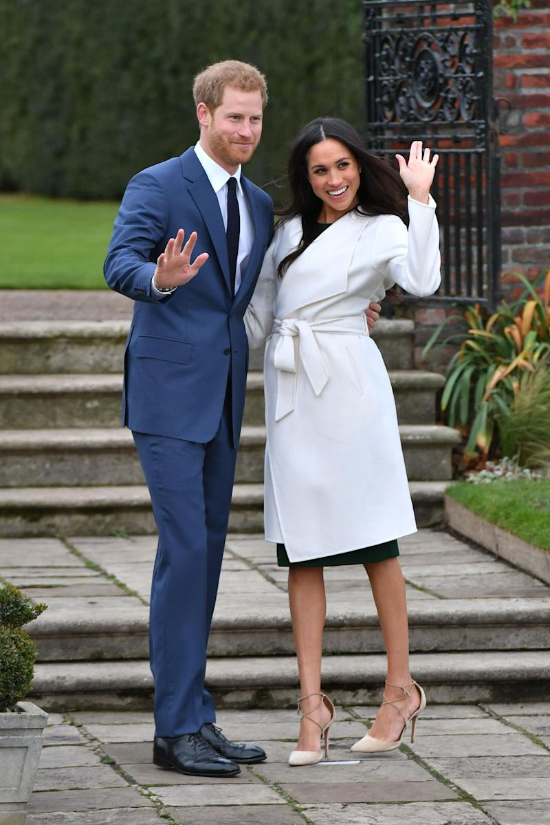 "<a href=""https://www.huffingtonpost.ca/entry/prince-harry-meghan-markle-interview_ca_5cd51b39e4b07bc72974d74c?utm_hp_ref=ca-prince-harry-meghan-markle-engaged"" target=""_blank"" rel=""noopener noreferrer"">Harry proposes to Meghan</a> at their Kensington Palace home, Nottingham Cottage. On Nov. 27, Clarence House releases a <a href=""https://twitter.com/ClarenceHouse/status/935085955383427072?ref_src=twsrc%5Etfw%7Ctwcamp%5Etweetembed%7Ctwterm%5E935085955383427"" target=""_blank"" rel=""noopener noreferrer"">statement</a> announcing the couple&rsquo;s engagement. Meghan and Harry sit down for an interview with BBC News, where Meghan spills the details of <a href=""https://www.huffingtonpost.ca/entry/prince-harry-meghan-markle-interview_ca_5cd51b39e4b07bc72974d74c"" target=""_blank"" rel=""noopener noreferrer"">how Harry popped the question</a> while they were making chicken. ""It was just an amazing surprise,"" says Markle. ""It was so sweet and natural and very romantic. He got on one knee,"" she continued, to which Harry replied, ""Of course."""