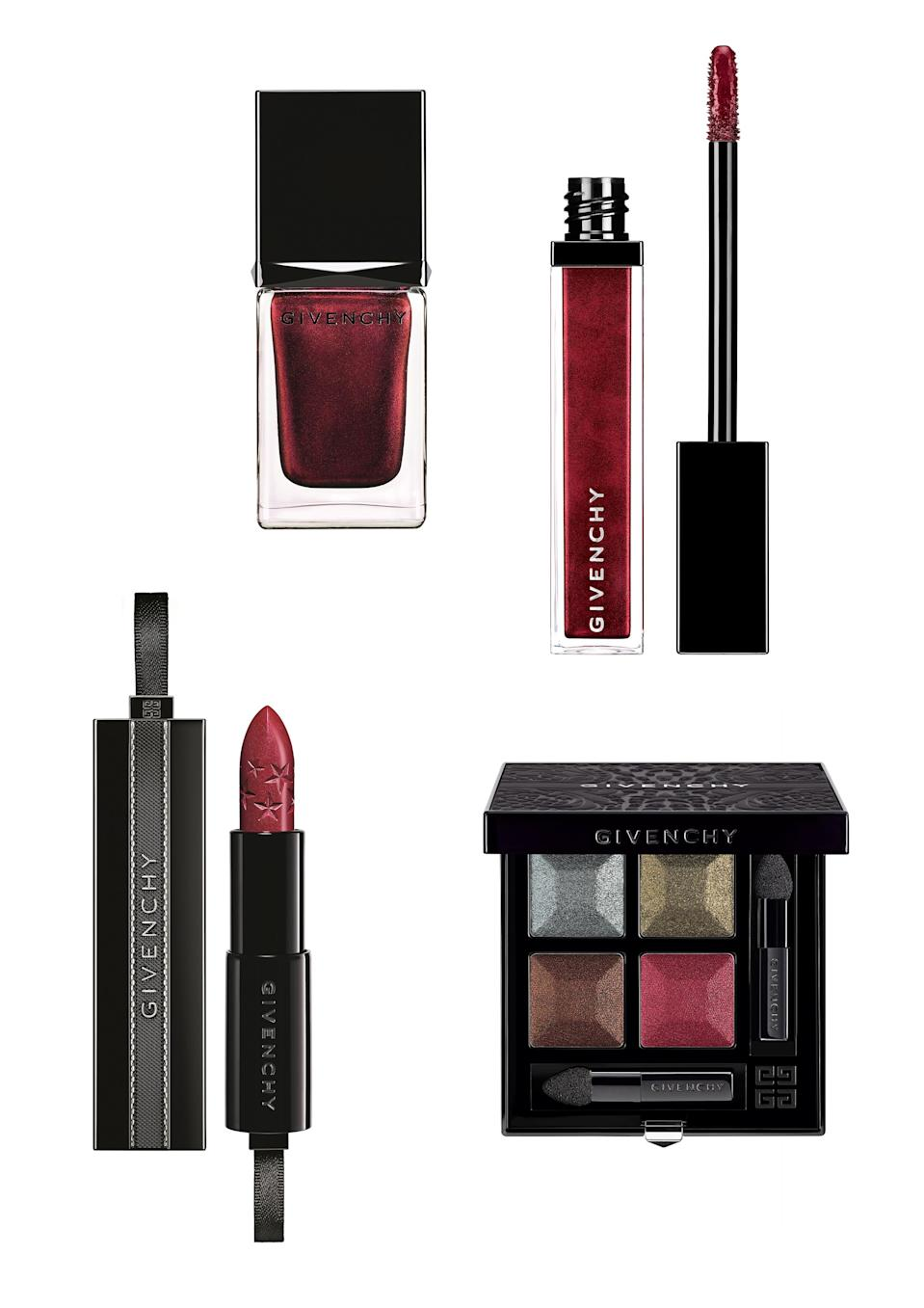 <p>Give your make-up bag a bit of a overhaul as autumn rolls round with these luxe new buys from Givenchy. From a pretty palette to a velvety lipstick, break out of your nude cosmetic rut with this decadent collection. </p>
