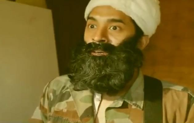 Kamil Haque plays a terrorist in a comedy video. (YouTube video)