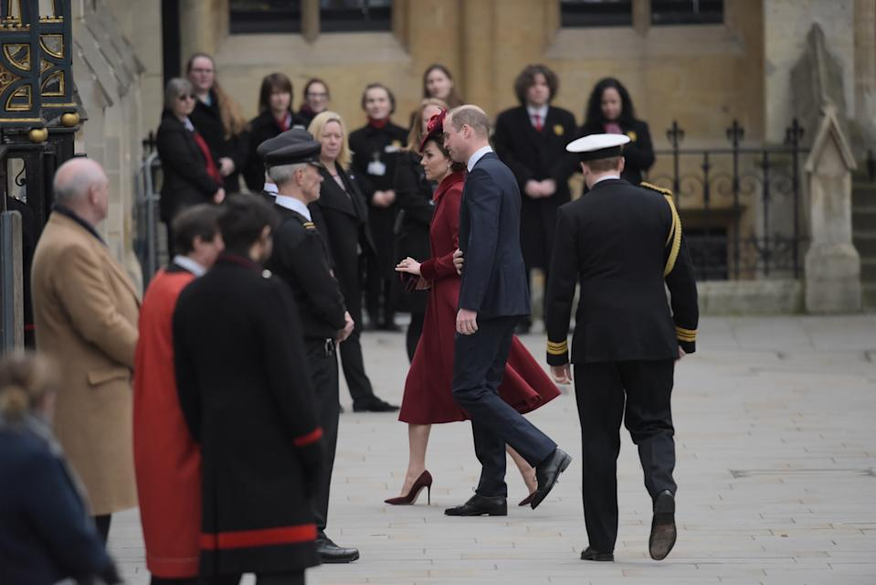 LONDON, ENGLAND - MARCH 09: Prince William, Duke of Cambridge and Catherine, Duchess of Cambridge attend the Commonwealth Day Service 2020 at Westminster Abbey on March 09, 2020 in London, England. The Commonwealth represents 2.4 billion people and 54 countries, working in collaboration towards shared economic, environmental, social and democratic goals. (Photo by Gareth Cattermole/Getty Images)