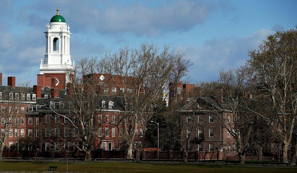 A general view of Harvard University campus is seen on April 22, 2020 in Cambridge, Massachusetts. Photo: Getty Images via TNS