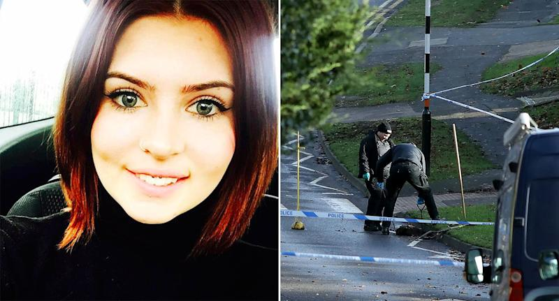 A woman named locally as Levi Davis, left, was stabbed to death in Rushden, Northamptonshire (Pictures: Facebook/SWNS)