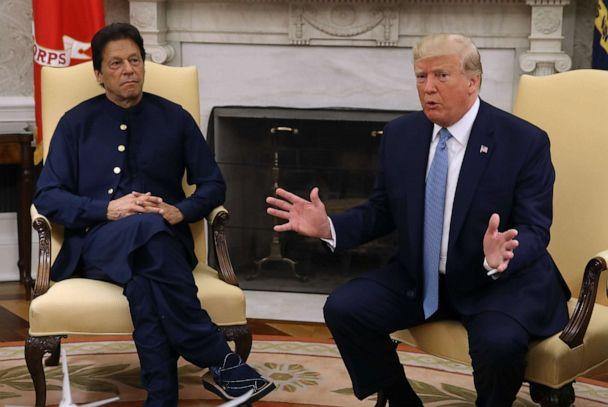 PHOTO: U.S. President Donald Trump meets with Prime Minister of the Islamic Republic of Pakistan, Imran Khan in the Oval Office at the White House on July 22, 2019 in Washington. (Mark Wilson/Getty Images)