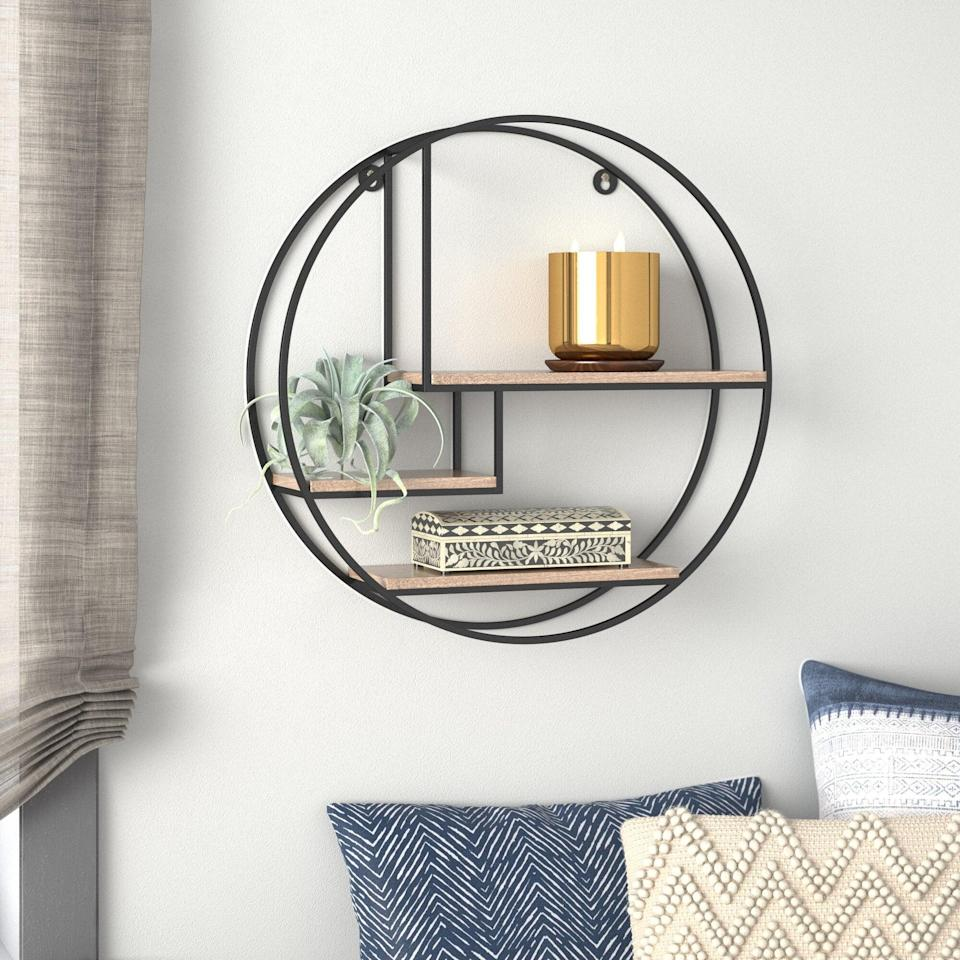 "<br><br><strong>Mistana</strong> Aberdeen 3 Piece Circle Accent Shelf, $, available at <a href=""https://go.skimresources.com/?id=30283X879131&url=https%3A%2F%2Fwww.wayfair.com%2Fstorage-organization%2Fpdp%2Fmistana-aberdeen-3-piece-circle-accent-shelf-w003534145.html"" rel=""nofollow noopener"" target=""_blank"" data-ylk=""slk:Wayfair"" class=""link rapid-noclick-resp"">Wayfair</a>"